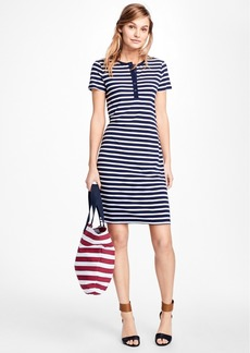 Brooks Brothers Striped Tee Shirt Dress