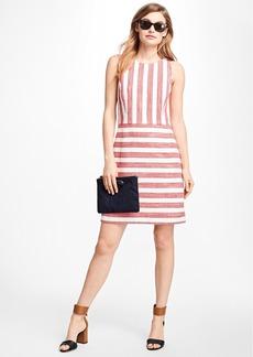 Brooks Brothers Striped Boucle Sheath Dress