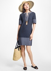 Brooks Brothers Corded Cotton-Blend Shift Dress