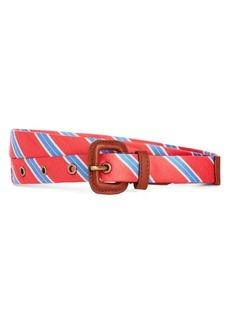 Brooks Brothers Silk Tie Stripe Belt