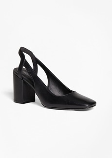 Brooks Brothers Square-Toe Slingback Pumps