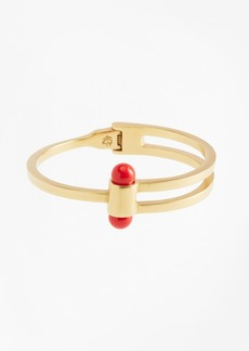 Brooks Brothers Gold-Plated Coral Sphere Bangle Cuff