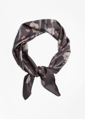 Brooks Brothers Floral Silk Twill Square Scarf