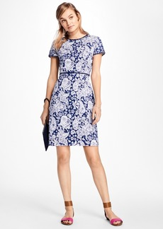 Brooks Brothers Short-Sleeve Paisley Print Ottoman Dress