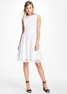 Brooks Brothers Asymmetrical Lace Dress