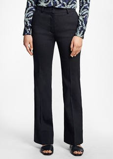 Brooks Brothers Wide-Leg Stretch Linen-Blend Pants