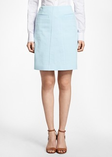 Brooks Brothers Stretch-Cotton A-Line Skirt