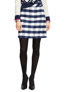 Brooks Brothers Wool Blend Buffalo Check Pencil Skirt