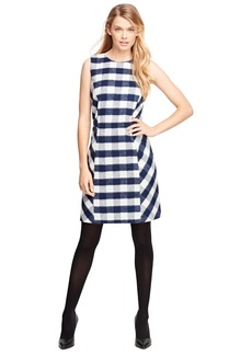 Brooks Brothers Wool Blend Buffalo Check Sleeveless Dress
