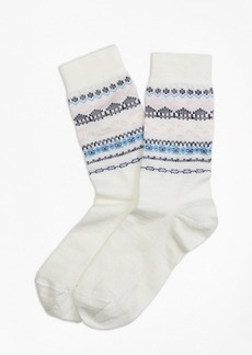 Brooks Brothers Wool-Blend Fair Isle Socks