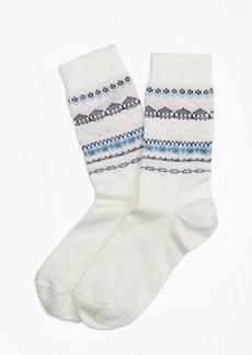 Brooks Brothers Wool-Blend Fair Isle Socks