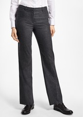 Brooks Brothers Wool-Blend Flannel Full-Leg Trousers