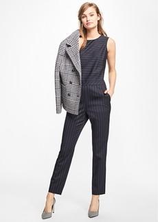 Brooks Brothers Wool-Blend Pinstripe Jumpsuit