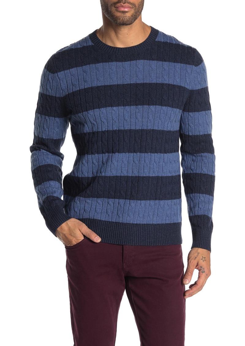 Brooks Brothers Wool Blend Stripe Sweater