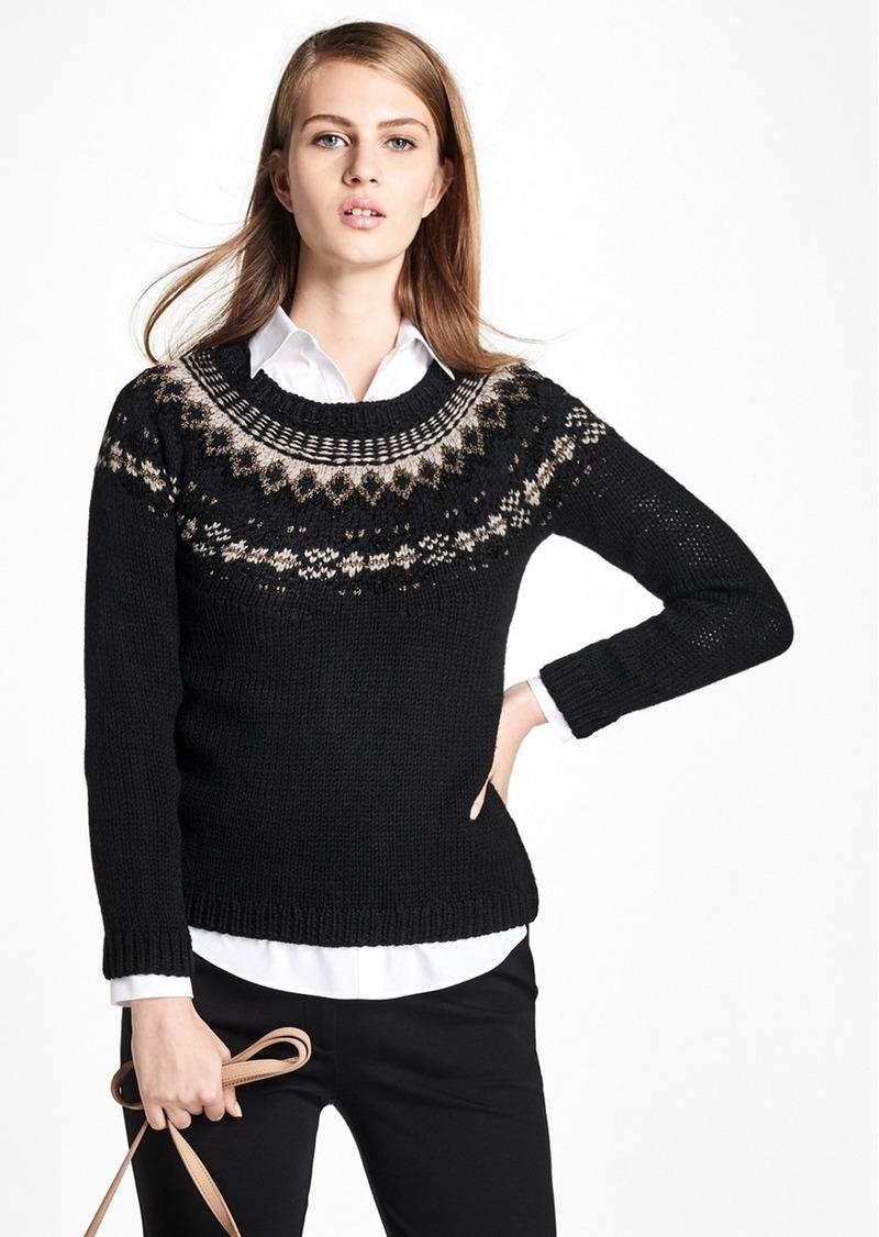d75050b7a4b5 Brooks Brothers Wool Fair Isle Crewneck Sweater