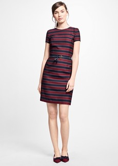 Brooks Brothers Wool Horizontal-Stripe Dress