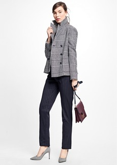 Brooks Brothers Wool Houndstooth Peacoat