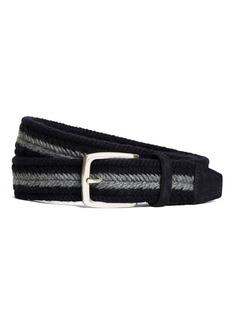 Brooks Brothers Wool Webbed Belt