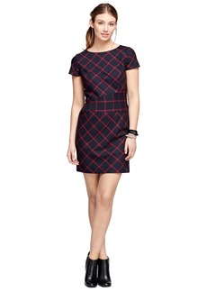 Brooks Brothers Wool Windowpane Dress
