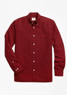 Brooks Brothers Yarn-Dyed Check Cotton Poplin Sport Shirt