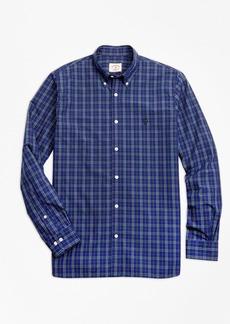 Brooks Brothers Yarn-Dyed Check Cotton Poplin Sport Shirt