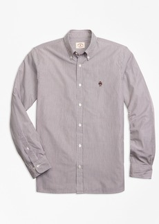 Brooks Brothers Yarn-Dyed Stripe Cotton Poplin Sport Shirt