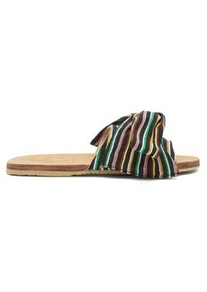 Brother Vellies X Ace & Jig Burkina striped-bow slides