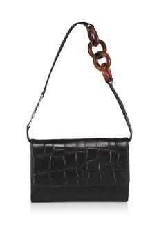 Brother Vellies Lijadu Croc-Embossed Leather Shoulder Bag