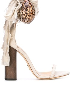 Brother Vellies shell aplique sandals