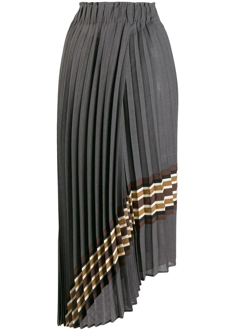Brunello Cucinelli pleated asymmetric skirt