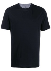 Brunello Cucinelli grey trim crew neck T-shirt