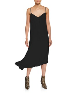 Brunello Cucinelli Asymmetric Crepe Cocktail Dress