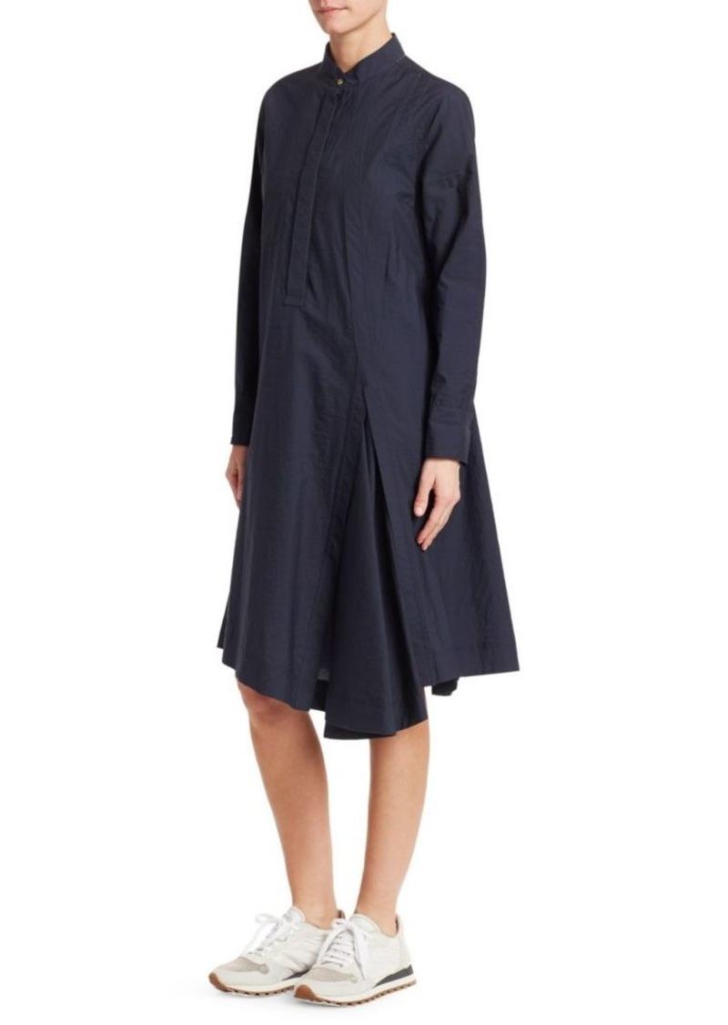 Brunello Cucinelli Asymmetric Poplin Midi Dress