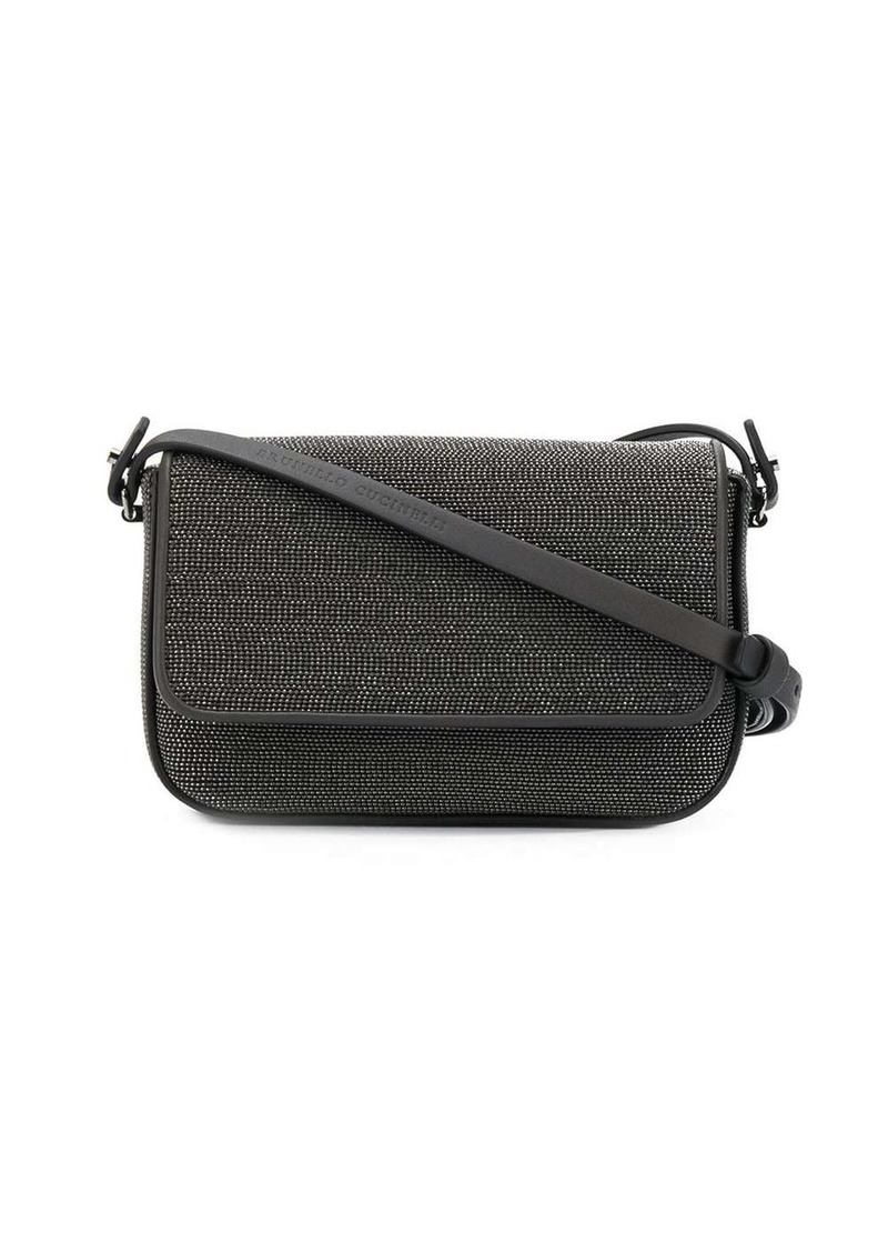 Brunello Cucinelli bead-embellished crossbody bag