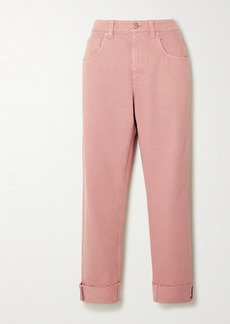 Brunello Cucinelli Bead-embellished High-rise Straight-leg Jeans