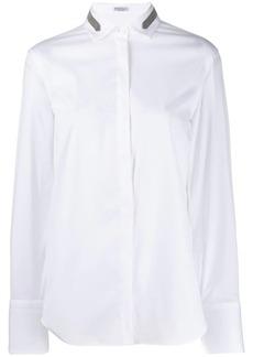 Brunello Cucinelli bead-embellished shirt
