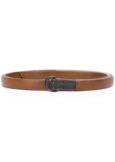 Brunello Cucinelli bead-embellished skinny belt