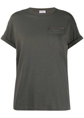 Brunello Cucinelli bead-embellished T-shirt