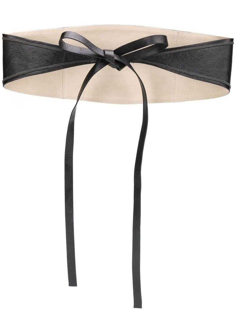 Brunello Cucinelli bead-embellished waist belt
