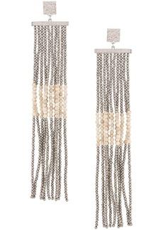 Brunello Cucinelli beaded chandelier earrings