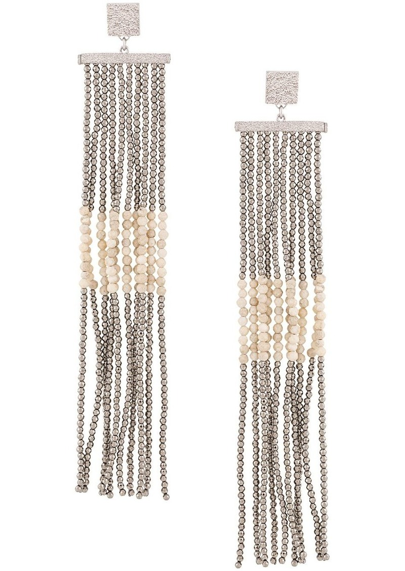 Brunello Cucinelli beaded chandelier earrings