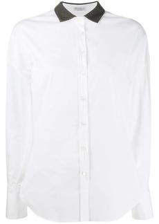 Brunello Cucinelli beaded collar shirt