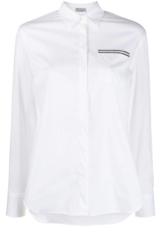 Brunello Cucinelli beaded detail shirt