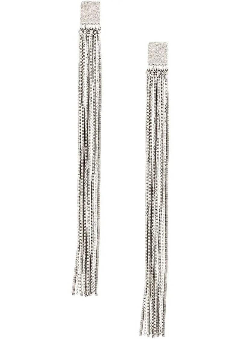 Brunello Cucinelli beaded fringe earrings