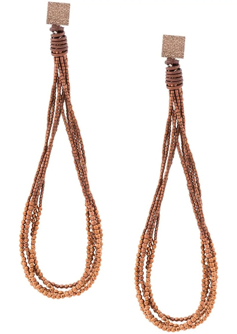 Brunello Cucinelli beaded loop earrings