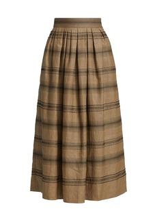 Brunello Cucinelli Beaded Stripe Midi Skirt