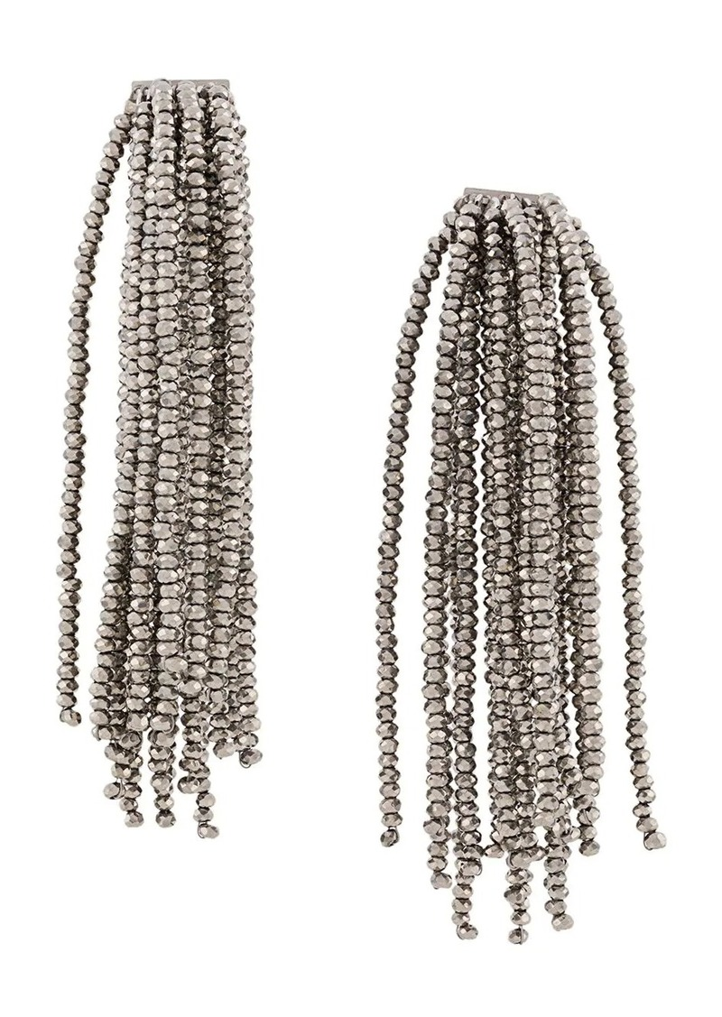 Brunello Cucinelli beaded tassel earrings