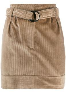 Brunello Cucinelli belted corduroy skirt