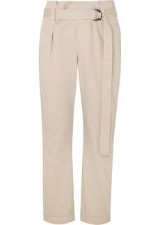 Brunello Cucinelli Belted Cotton-blend Pants