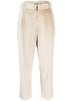 Brunello Cucinelli belted cropped trousers